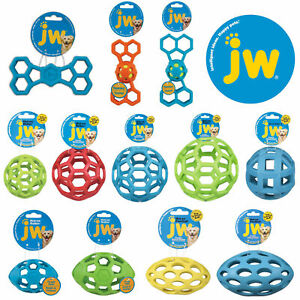 JW Pet Hol-ee Roller Dog Puppy Ball Football Egg Bone Squeaker Rubber Chew Toys