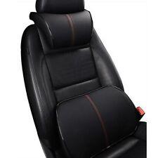 PU Learter Car Ergonomic Memory Cotton Headrest + Memory Foam Lumbar Cushion
