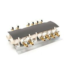 """12 Port PEX Manifold (3/4"""" Inlets, 1/2"""" Outlets) with Shutoff Valves"""