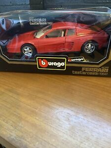 1984 Ferrari Testarossa Red 1:18 Bburago 1:18 Made In Italy