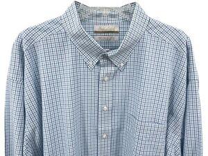 Gold Label Men's Dress Shirt Size 19 34/35 Big White Check Roundtree Yorke New