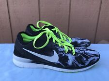 Womens Nike Free 5.0 TR FIT 5 PRT Running Shoes US 7.5 Black White 704695 014 A2