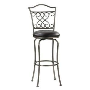 "Hillsdale Wayland Swivel Metal Counter 24""  Pub Game Bar chair  Stool Pewter"