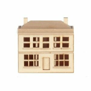 Dollhouse  Miniature Unfinished 1:144 Scale Dolls House Front Opening 6 Rooms