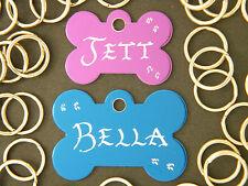BUY 2 get 1 Dog Cat Pet ID tags inc..Hand Engraved + Split