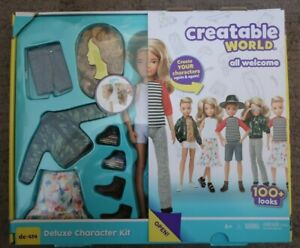 CREATABLE WORLD Character BLONDE HAIR DOLL Kit DC414 wig clothes shoes hat
