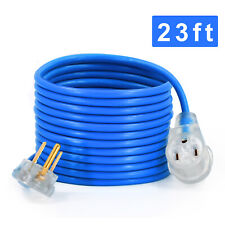 23FT 300V Power Extension Cord 12AWG Heavy Duty Electric Wire Power Dryer Cord
