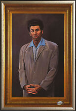 Seinfeld The Kramer Painting Framed Poster in Premium Gold Wood 24x36