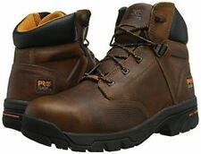 "Timberland PRO Helix 6"" Alloy Toe Work Boots - Mens Size 7 Wide Full Grain Brown"