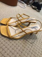 Strappi Sandals Sz 8 39 Rrp$90 Yellow Low Mid Heel