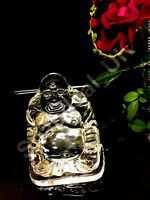 NEW Sitting Chinese Buddha Statue Clear Crystal Element Ornament Figurine_UK