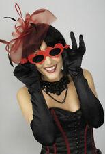 Rojo Corazón Amor Gafas con flecha, mujer MORDAZA Día de San Valentín