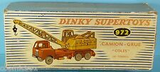 CAMION GRUES ancien n° 972 DINKY SUPERTOYS en boite ton Lorry mounted crane toys