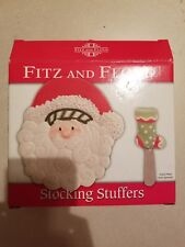 Fitz And Floyd Santa Snack Plate With Spreader Stocking Stuffers