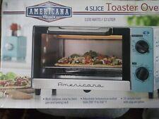 New NIB Americana Classic 4 Slice Toaster Oven 1950's Aqua