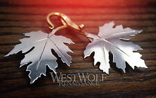 Maple Leaf Cloak Pins/Clasps Set -- Elven/Medieval/Viking/Celtic/Brooch/Silver