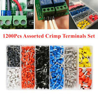 1200Pcs Assorted Crimp Terminals AWG Set Insulated Electrical Wiring Connectors