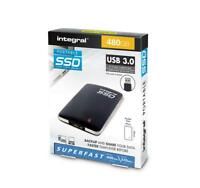 480GB USB 3.0 PORTABLE SSD by Integral. 400 MB/s  370 MB/s. USB Cable included