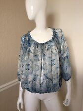 NOLITA GORGEOUS! NEW! Sheer Peacock Feather Peasant Blouse Sz 40 NWOT!
