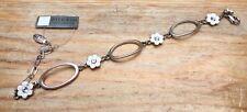 Enamel & Rhinestone Flower Pilgrim Bracelet/Chain//Statement/Designer/Danish/New