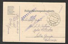 WWI-GERMANY-AUSTRIA-HUNGARY-MONTENEGRO-BOSNIA-FELDPOST CENSORED POSTCARD-1917.