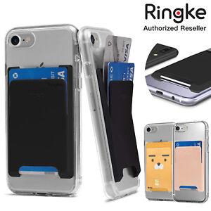 Ringke Credit Card Slot Holder Adhesive Stick On Wallet Case Slim Hard Sleeve