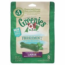 Greenies Freshmint Dental Chews for Dogs Large 8 Count