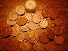 1937-D LINCOLN WHEAT CENT PENNY ROLL, HIGH GRADE!! VF-XF!!!!!