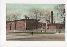 Paton Woollen Mills Sherbrooke Quebec Vintage Postcard Canada 610a