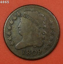 """1809 Classic Head Half Cent """"Fine"""" *Free S/H After 1st Item*"""