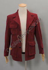 Dr. Dark Red Corduroy Trench Coat Costume