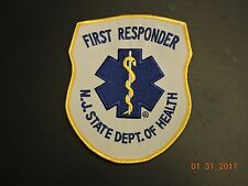 NJ State New Jersey DOH First Responder EMR EMS First Aid Squad Patch #10