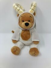 "Disney Winnie the Pooh Horoscope Aries Ram Plush Horns Stuffed Bean Bag 10"" A13"
