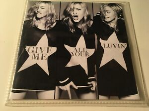 Madonna RARE 2trk PROMO CD Give Me All Your Luvin' ft. NICKI MINAJ & M.I.A