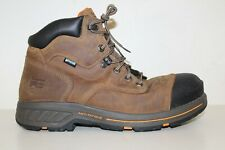 """Timberland PRO Mens Helix HD 6"""" Comp Toe WP Work Boots Sz 11.5 W Brown Leather"""