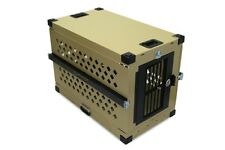 Heavy Duty Dog Crate, Folding/Collapsible Aluminum Pet Crate, Durable - XL