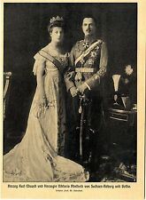 Herzog Karl Eduard & Herzogin Viktoria Adelheid von Sachsen-Koburg-Gotha c.1905