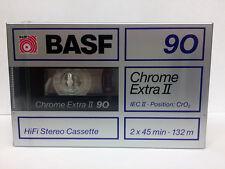 BASF Chrome Extra II 90 RARE BLANK AUDIO CASSETTE TAPE NEW 1988 YEAR MADE