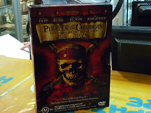 PIRATES OF THE CARIBBEAN CURSE OF THE BLACK PEARL + THE LOST DISC (DVD, M)