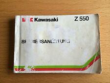 Fahrerhandbuch Kawasaki Z 550, 4-Zylinder Bedienungsanleitung, Betriebsanleitung