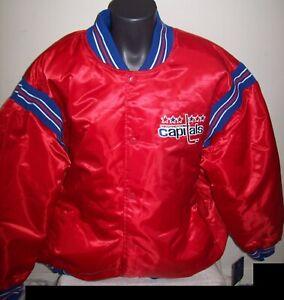 WASHINGTON CAPITALS STARTER Satin Jacket Original STARTER Traditional RED 5X