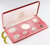 1974 Republic of Liberia Proof Set (7 coins) w/ Box & Case
