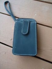 Linda Dano Gray Cell Phone Wallet Fits Belt Has Removable Carry Strap & Zippered