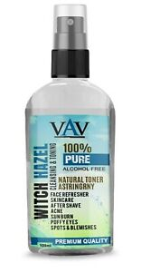 Witch Hazel Pure Natural Distilled Skincare Acne Face Toner Alcohl Free 100ml