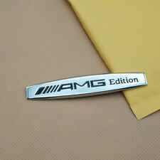 Metal //// AMG Edition Logo Car Emblem 3D Silver Side Fender Badge Sticker Decal