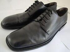 Salvatore Ferragamo Leone Men's Dress Shoes Black Leather Sole Size US 10.5 D