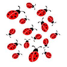 16 Ladybirds Printed on Vinyl Stickers decal,car,window,van,wall,laptop,ipad