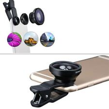 Wide Angle Fish Eye Macro Clip Camera Lens Kit for iPhone 6S 7 Mobile Phone