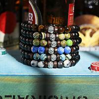 La mode Multi-style Naturel Pierre de lave Perles Femmes Hommes Bracelets Cadeau