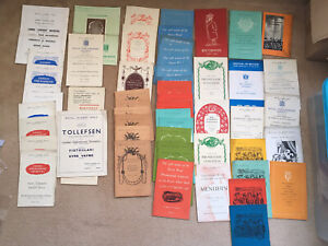 Job Lot Of 60 Concert Programmes Royal Albert Hall 1940's And Early 1950's